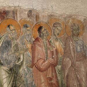 Communion of the Apostles, detail
