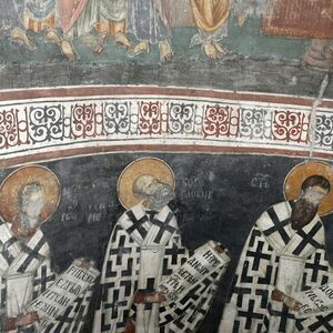 Officiating Church Fathers, detail