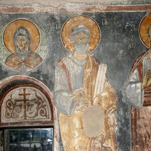 St. Ephraim the Syrian (bust) and St. Peter