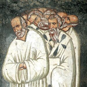 The Fifth Ecumenical council, detail