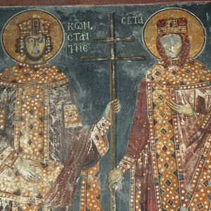 St. Constantine and St. Helena, detail