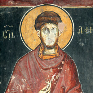 St. Damianos, detail
