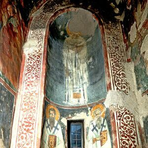 View of the apse of diaconicon