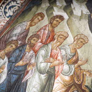 46 Christ Appearing to the Apostles on the Mountain of Galilee, detail