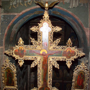Cross on the Iconostasis