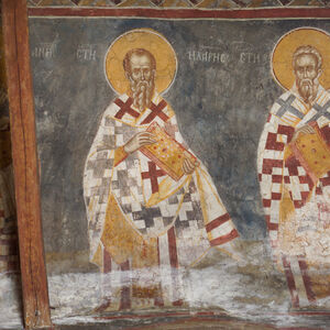 94a Portraits of bishops (from the right): St. Athanasius, St. John, St. Gregory, St. Hilarion, St. Anicius, unknown bishop