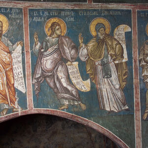 7IV-35,36,37 December 1, 2 & 3 - The prophet Nahum, prophet Habakkuk, St. John Damascene and prophet Zephaniah (figures)