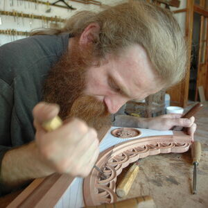 Father Dimitrije carving wood 8