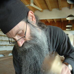 Father Avakum carving wood 5