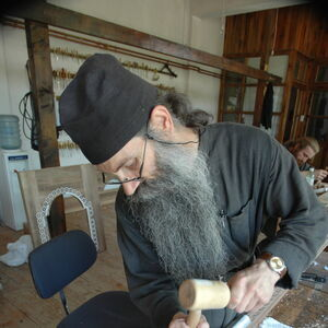 Father Avakum carving wood 6