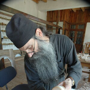 Father Avakum carving wood 7