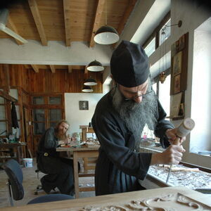 Father Avakum carving wood 9
