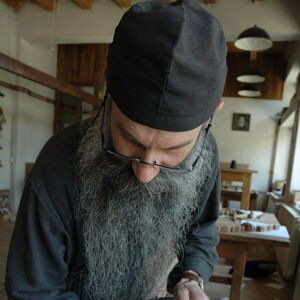 Father Avakum carving wood 11