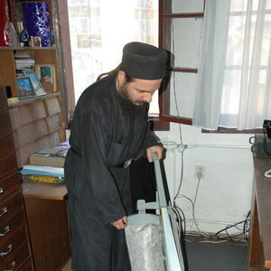 Monk Damaskin doing his daily chores 2