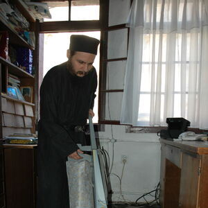 Monk Damaskin doing his daily chores 3
