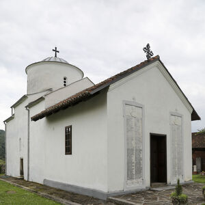 Northwest view of the church