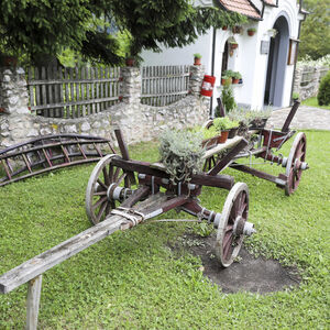 Old carriage in the church yard