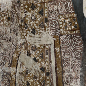Detail of Queen Jelena's dress