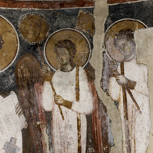 St. Basil the Great and two angel-deacons