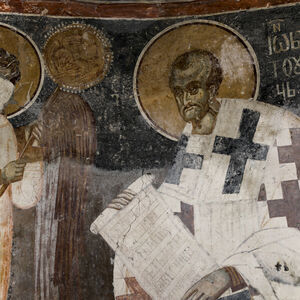 An angel-deacon and St. John Chrysostom