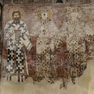 St. Sava of Serbia, King Milutin, King Dušan and unidentified boy