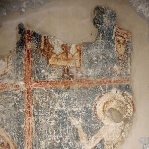 Fresco fragments of the St. George cycle