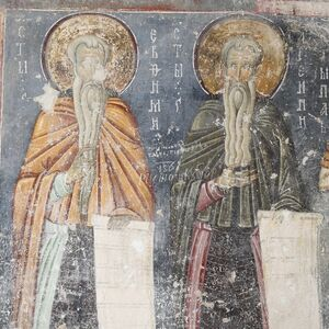 Sts. Euthymius and Arsenius, detail