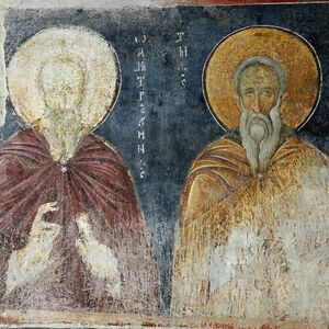 St. John the Silent (Hesychast) and St. Hilarion