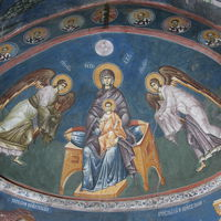 Virgin (Theotokos) with Christ and two Archangels