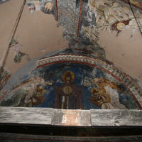 View of the upper part of altar apse and the altar vault