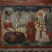 St. Nicholas rescues Basil  from the Saracenes