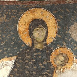The Mother of God  enthroned with infant Christ