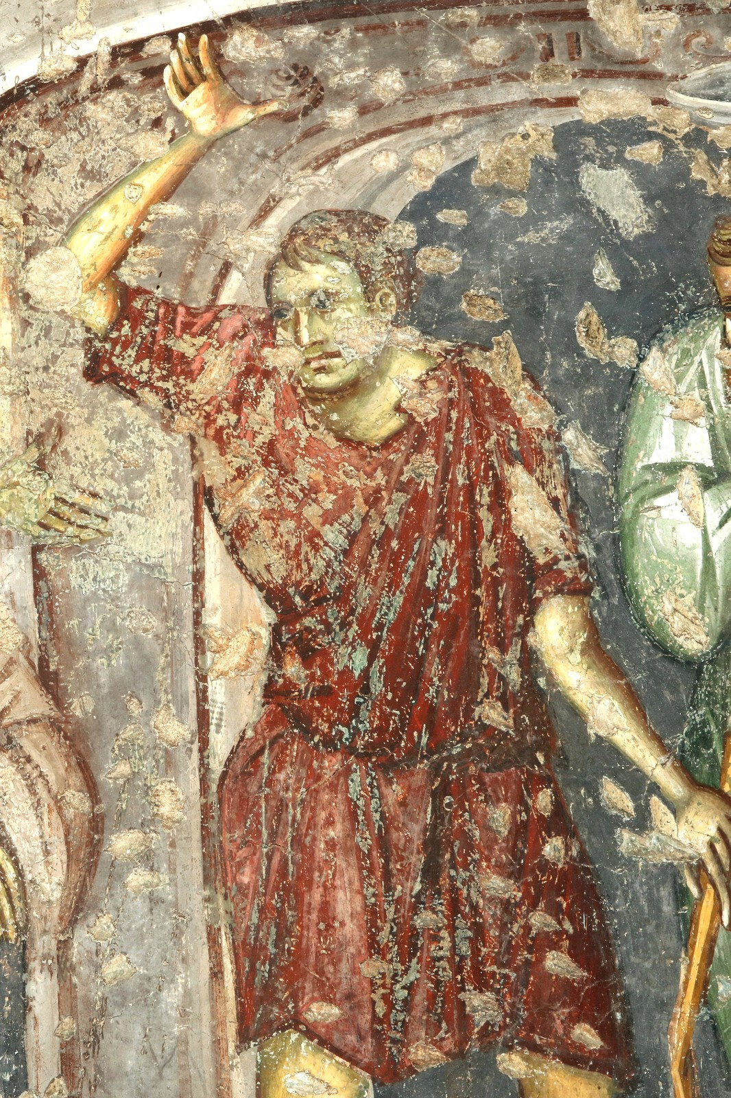The Judgement before Annas, detail