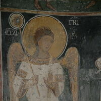 Officiating Church Fathers, detail - angel-deacon