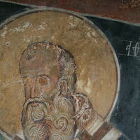 Officiating Church Fathers, detail - St. Athanasius the Great