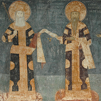Byzantine Emperor Andronikos and King Milutin of Serbia