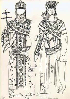 King Vukasin (posthumous portrayal) and King Marko (Kralj Vukasin (posmrtni portret) i kralj Marko)